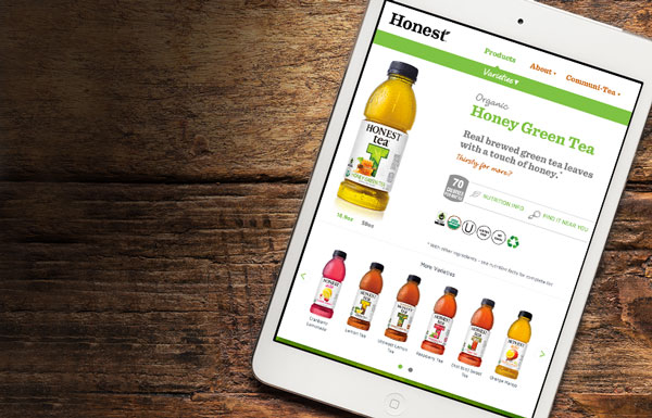 Responsive web design for Stonyfield