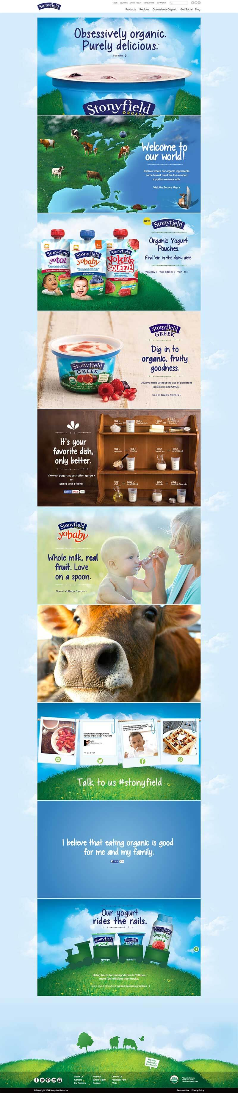 Stonyfield website redesign