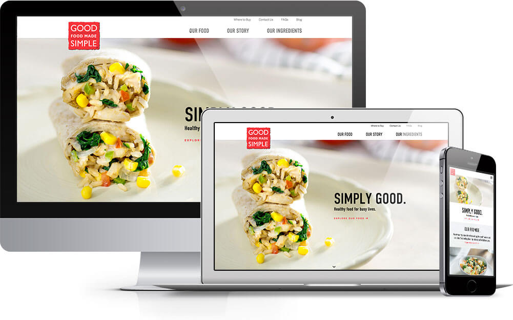 Good Food Made Simple responsive web design