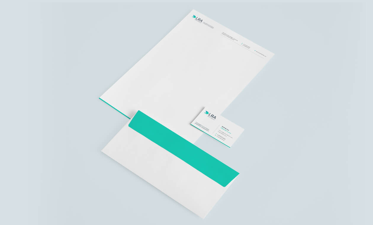 LRA branding stationary