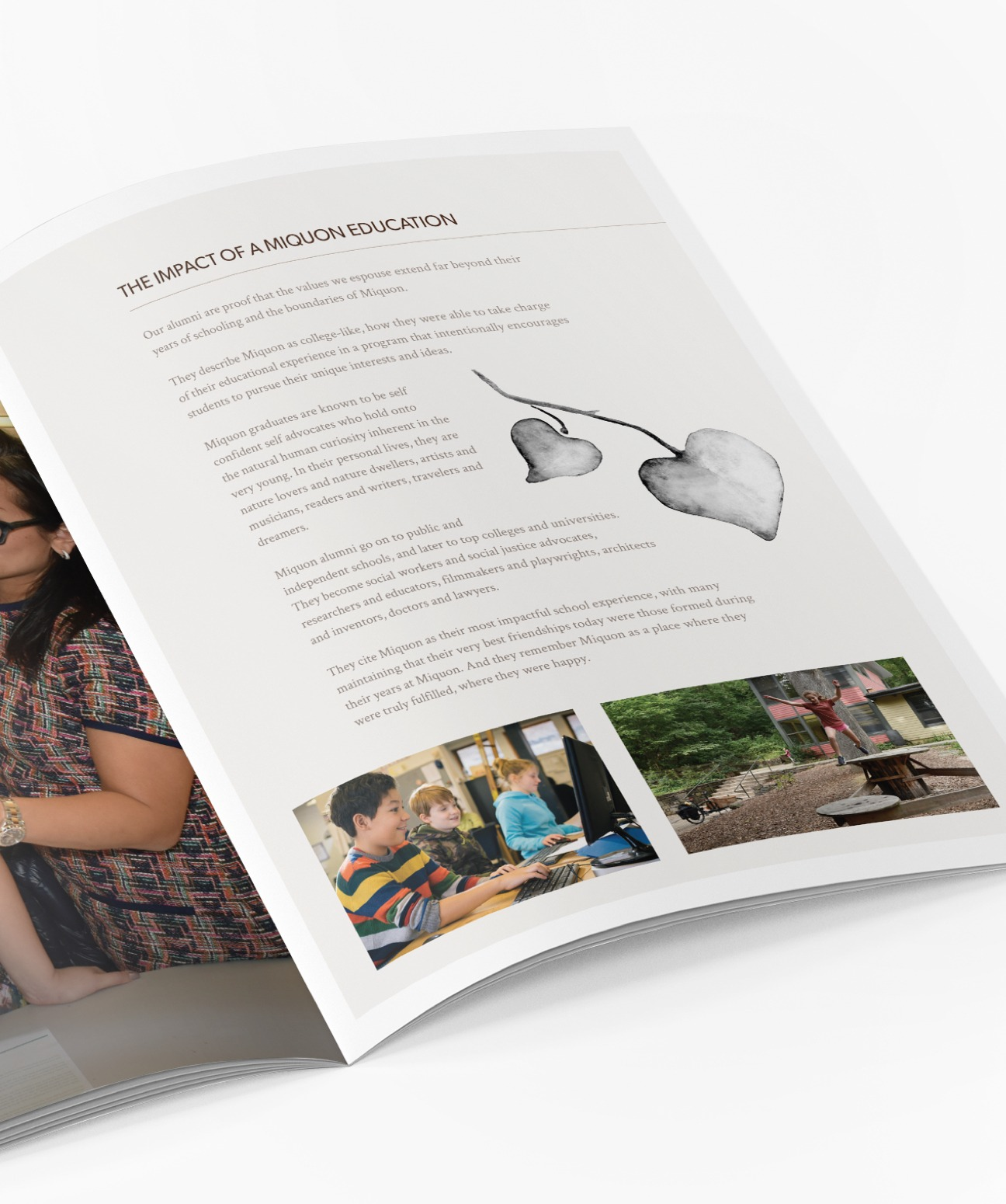 King Design The Miquon School Watercolor Graphic Assets Admissions Brochure