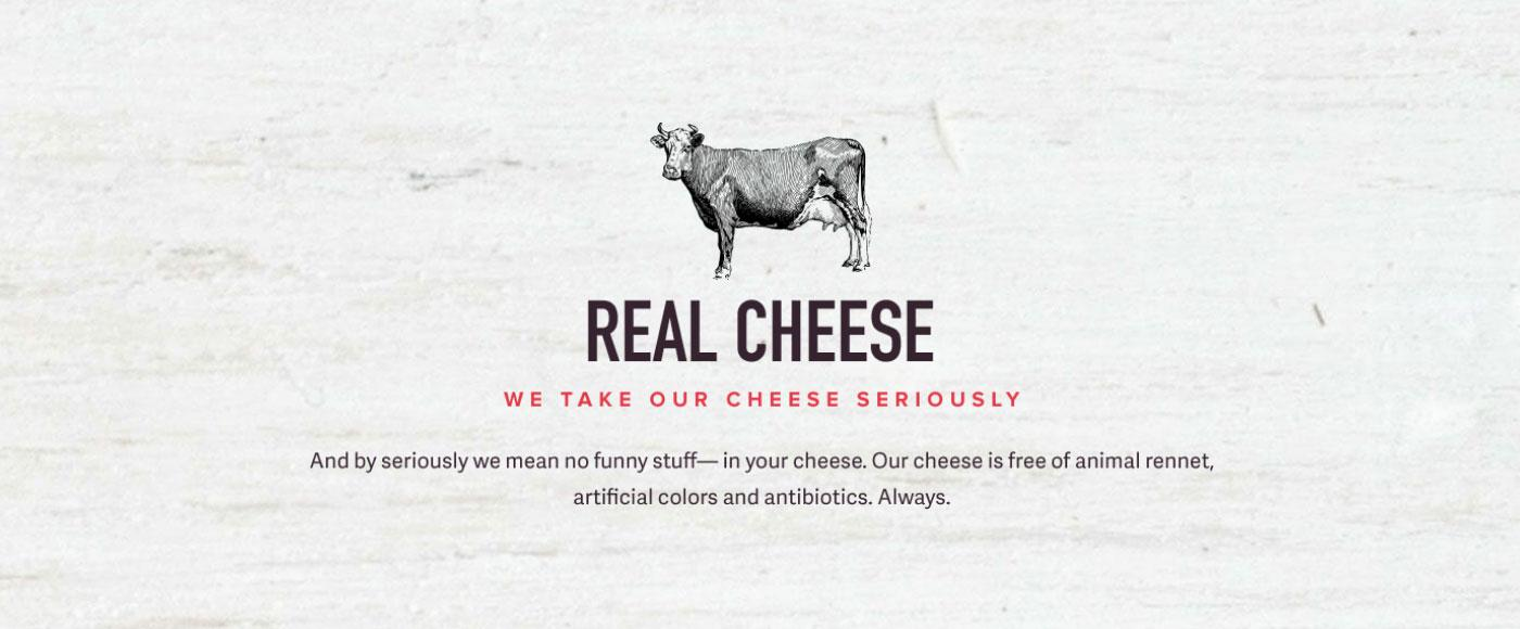 Good Food Made Simple uses real cheese.