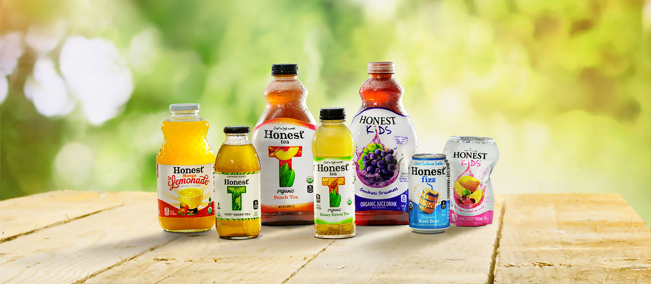 Honest Tea Family Products Header