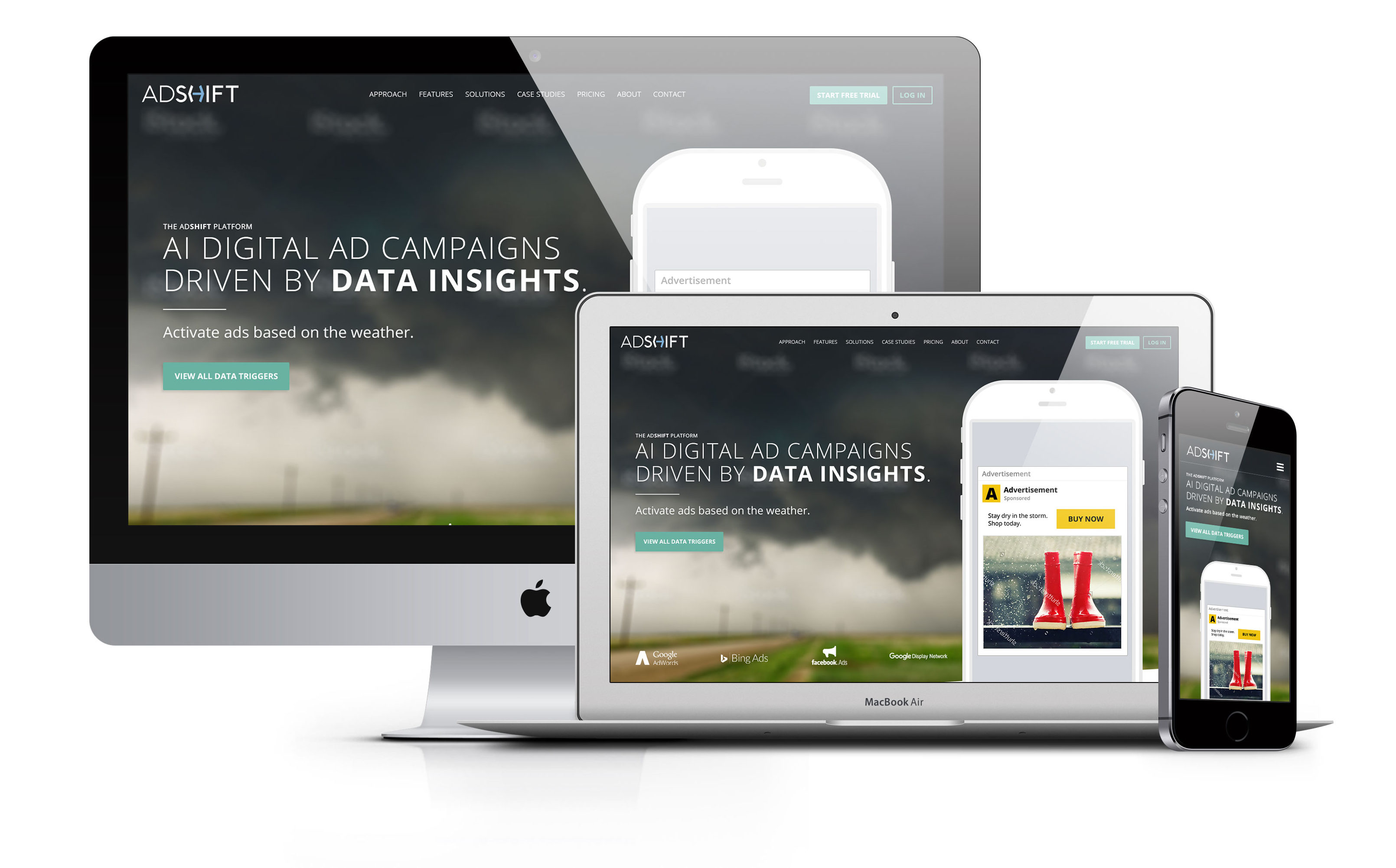 King Design Adshift Responsive Website On Multiple Devices