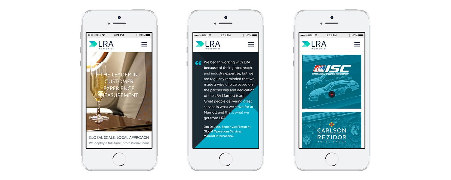 King Design Lra Website On Mobile Devices