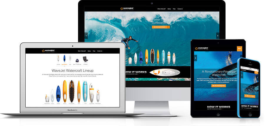 King Design Wavejet Responsive Design On Multiple Devices