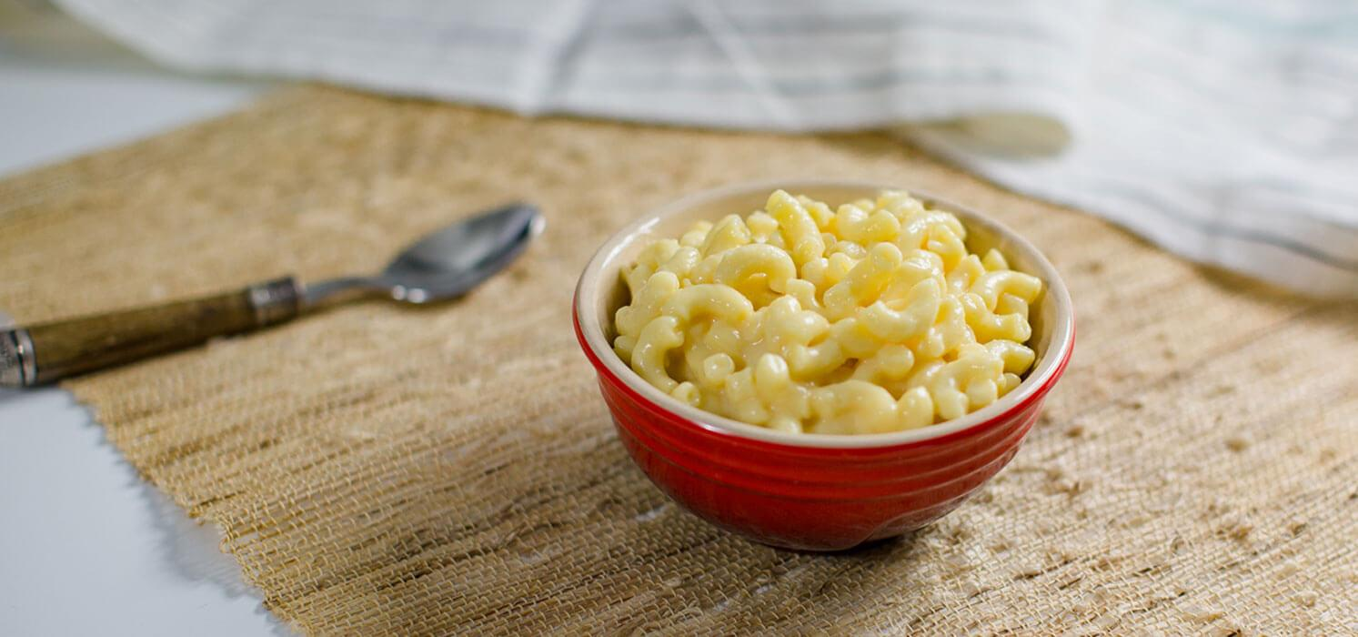 Good Food Made Simple Mac and Cheese in a bowl.
