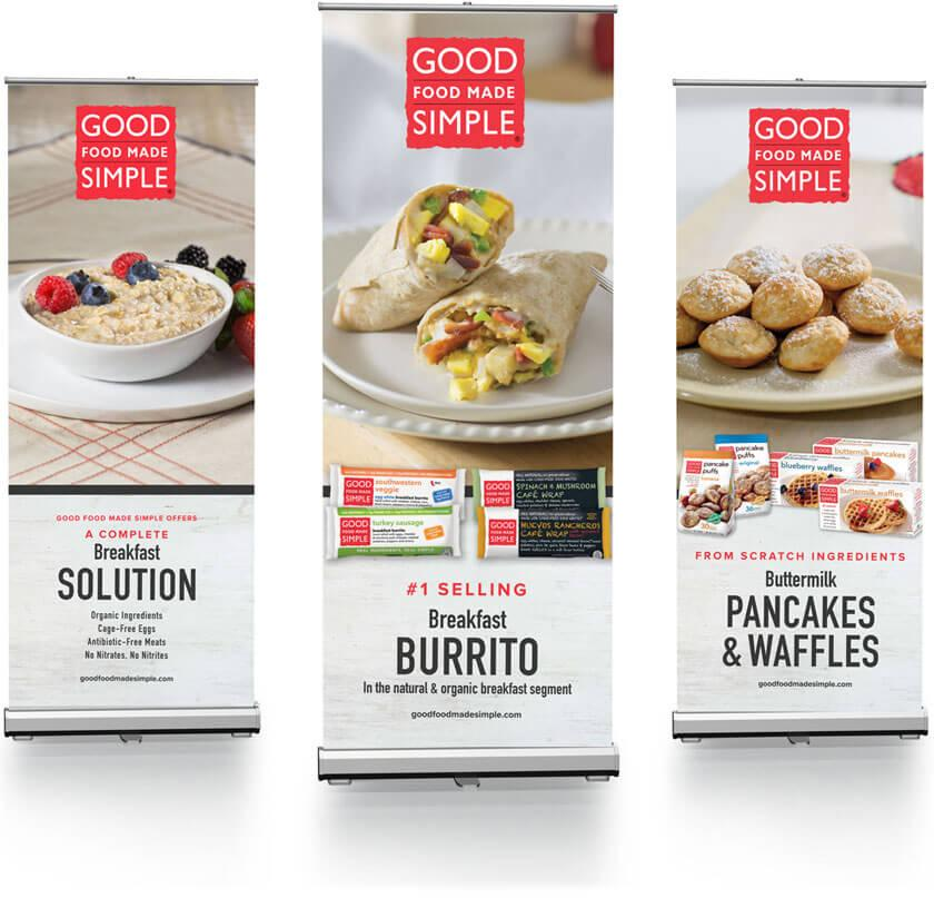 Good Food Made Simple trade show banners.