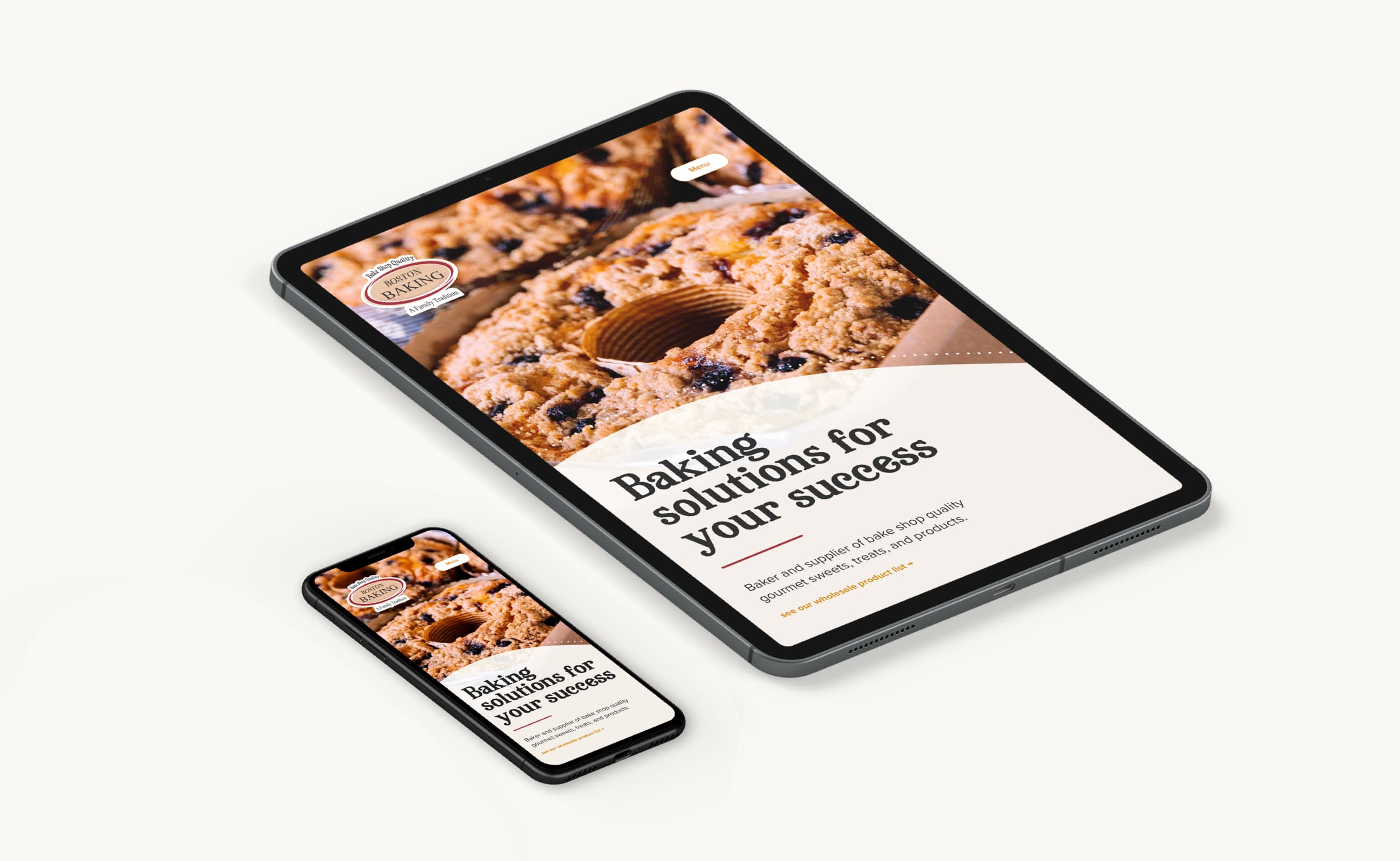 King Design Boston Baking Responsive Device Mockups