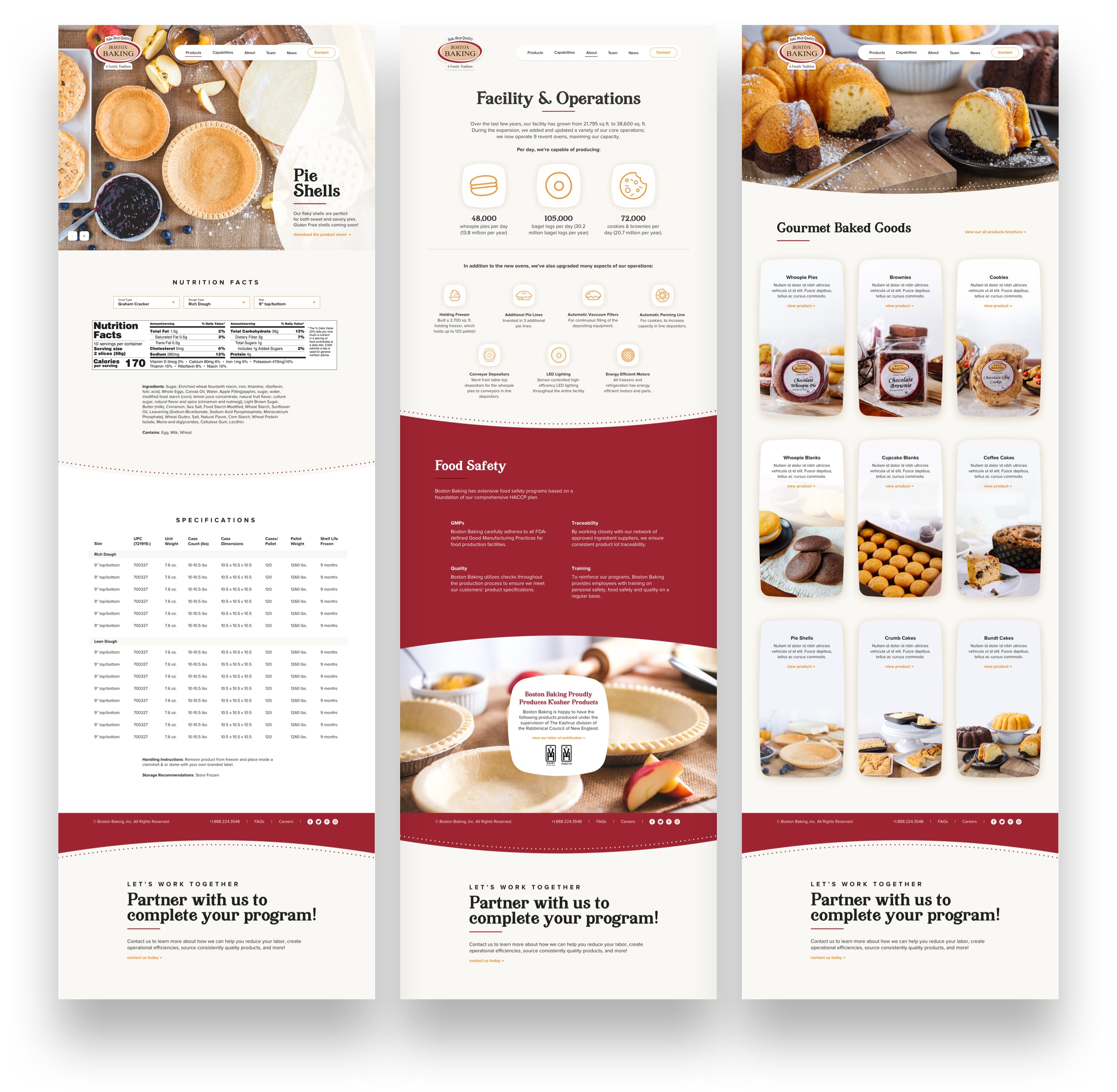 King Design Boston Baking Website Design Development
