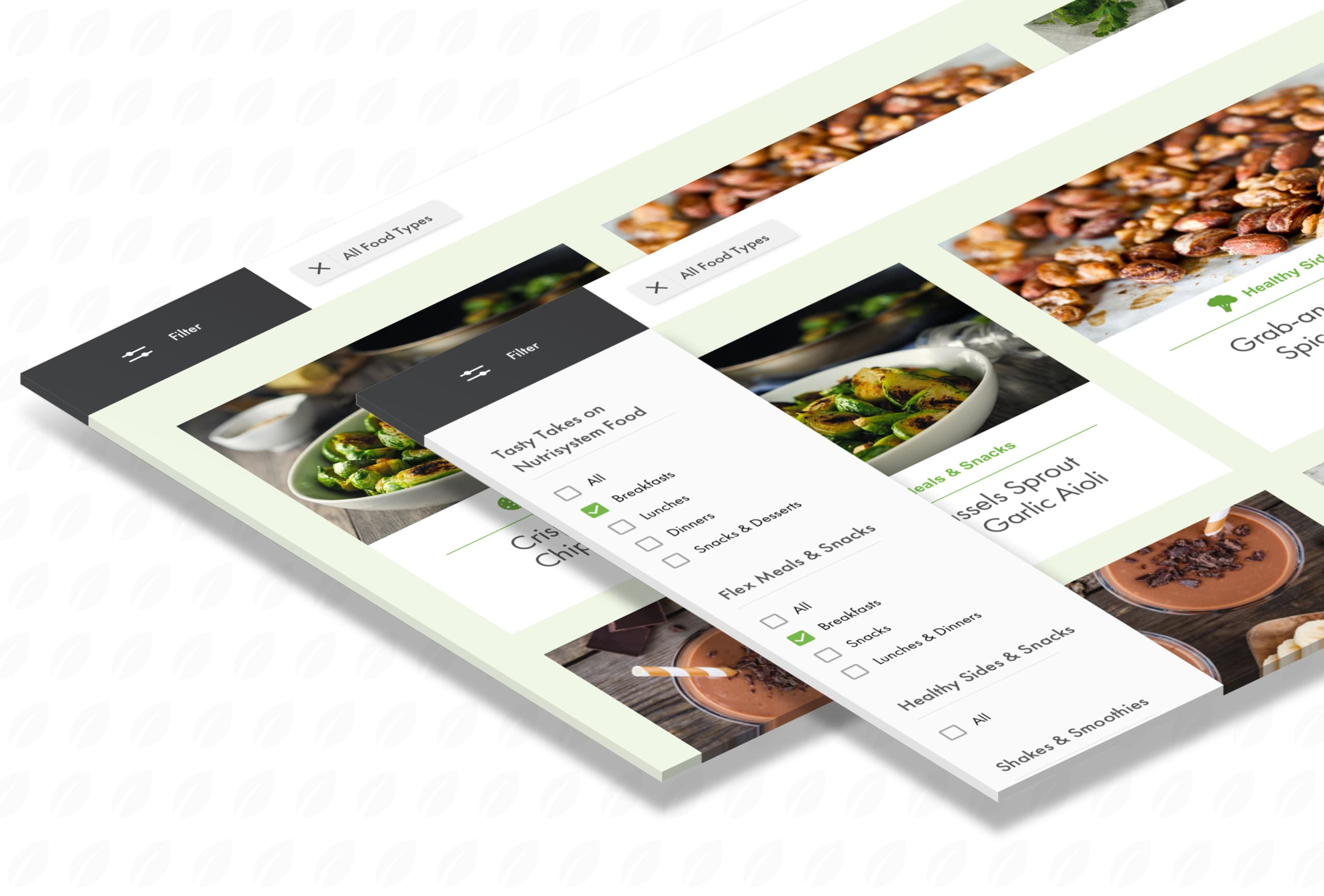 King Design Nutrisystem The Leaf Blog Content Recipe Filter Flyout Menu