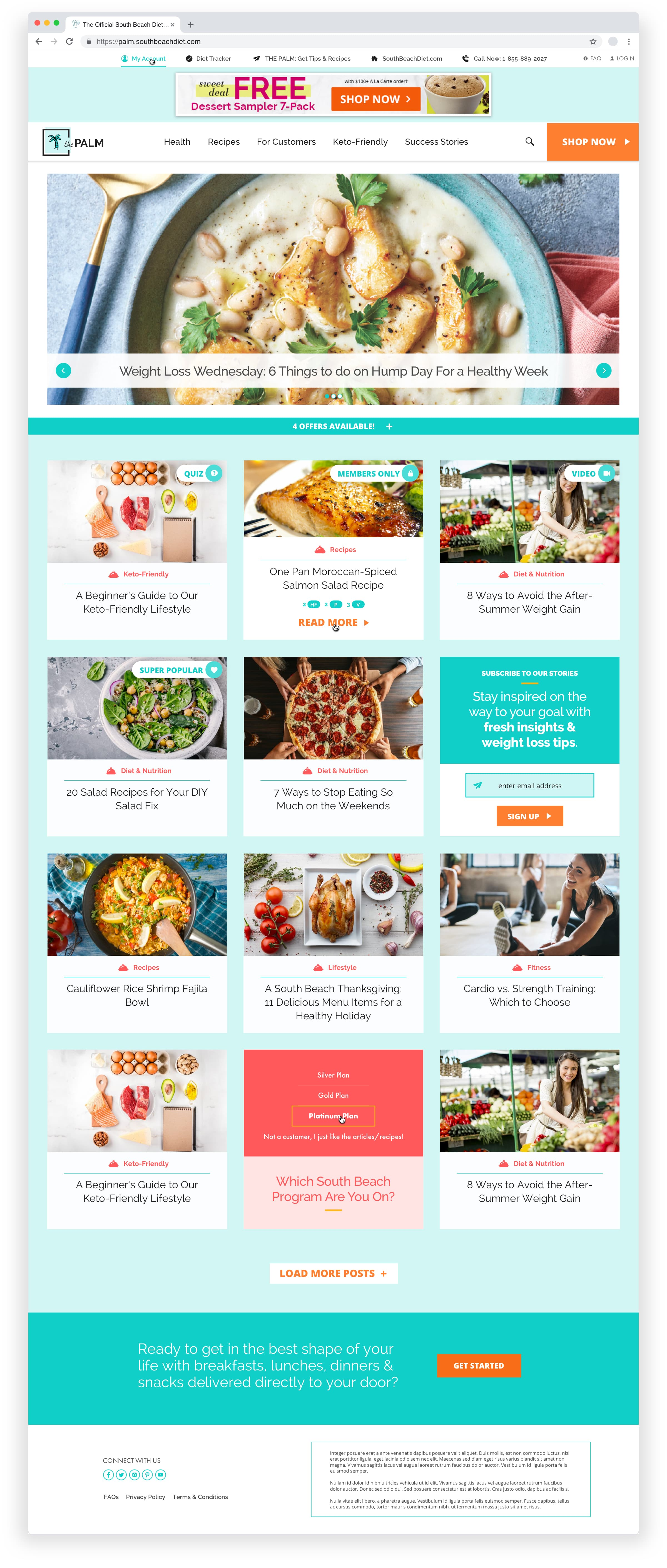 King Design South Beach Diet The Palm Blog 2020 Homepage Redesign