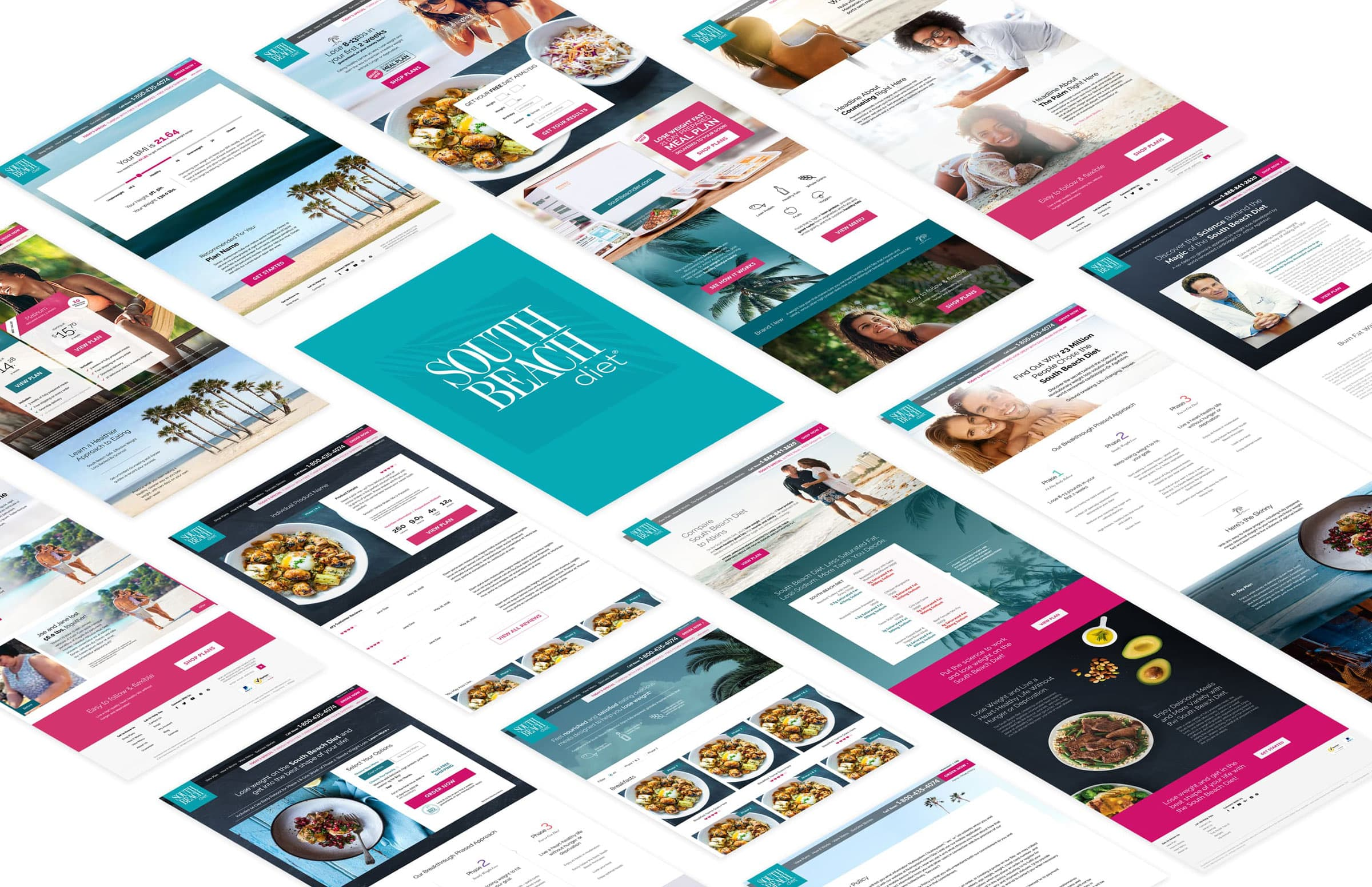 King Design South Beach Diet Website Design Layout