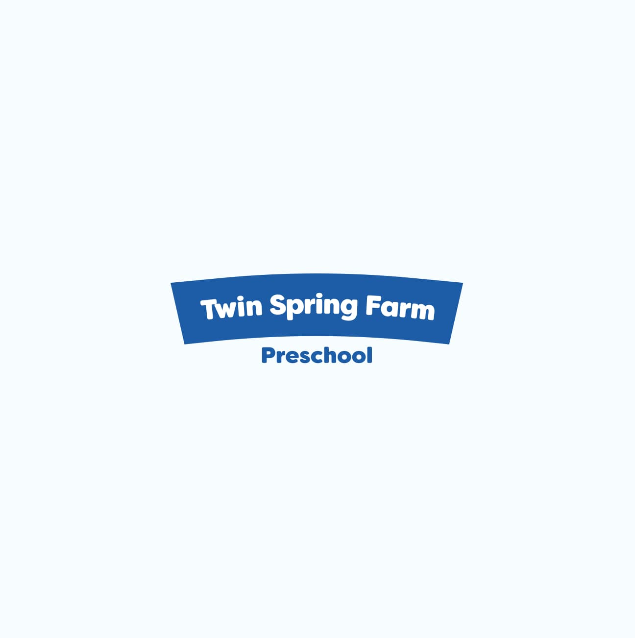 King Design Twin Spring Farm Preschool Day Summer Camp Logo Design