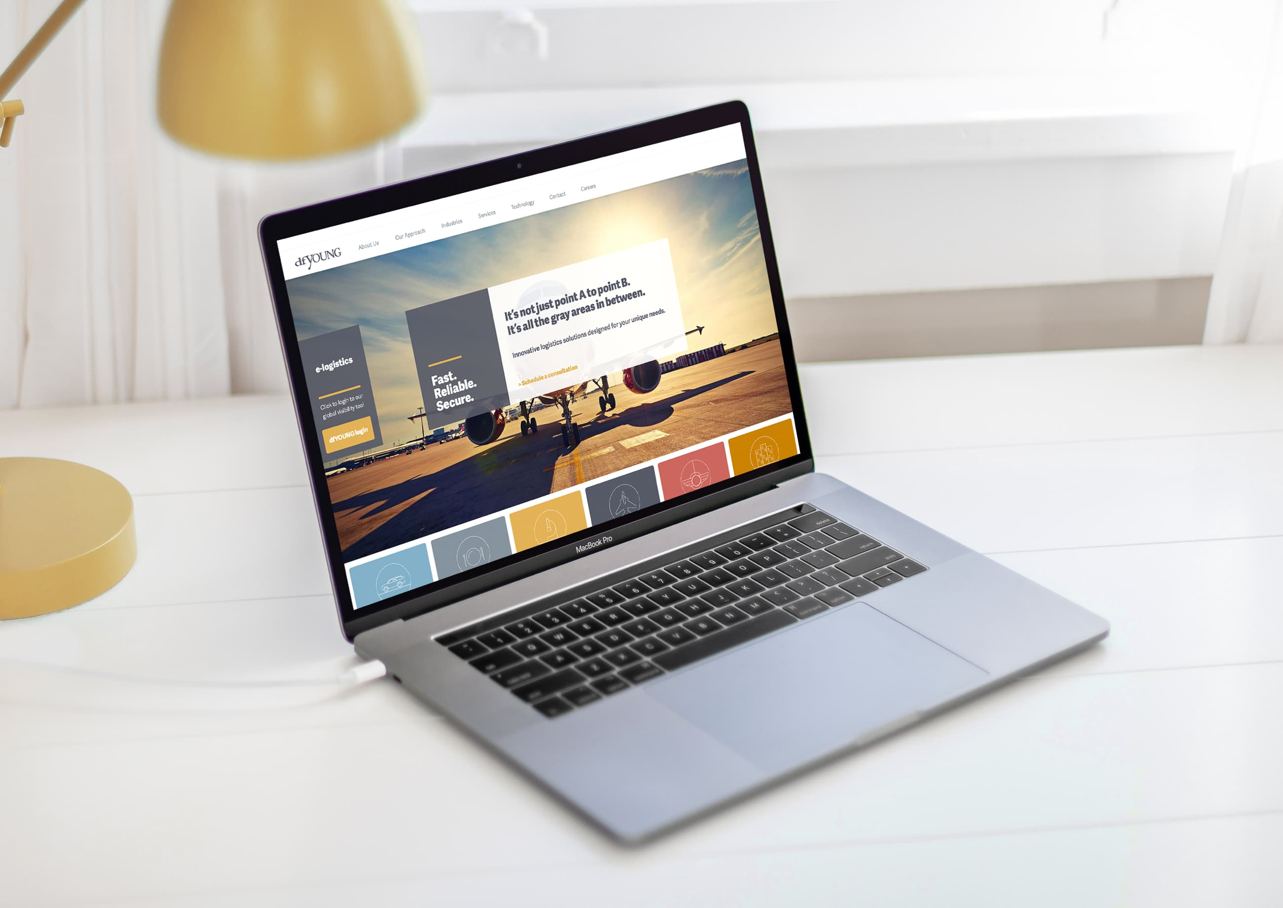 King Design DfYOUNG Desktop Website Mockup