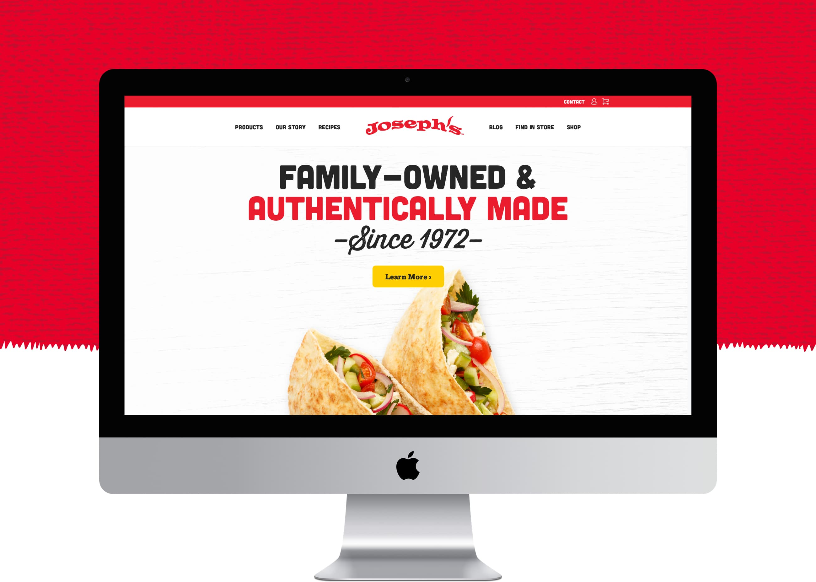 King Design Josephs Bakery Flatbread Lavash Pita Homepage Primary Messaging
