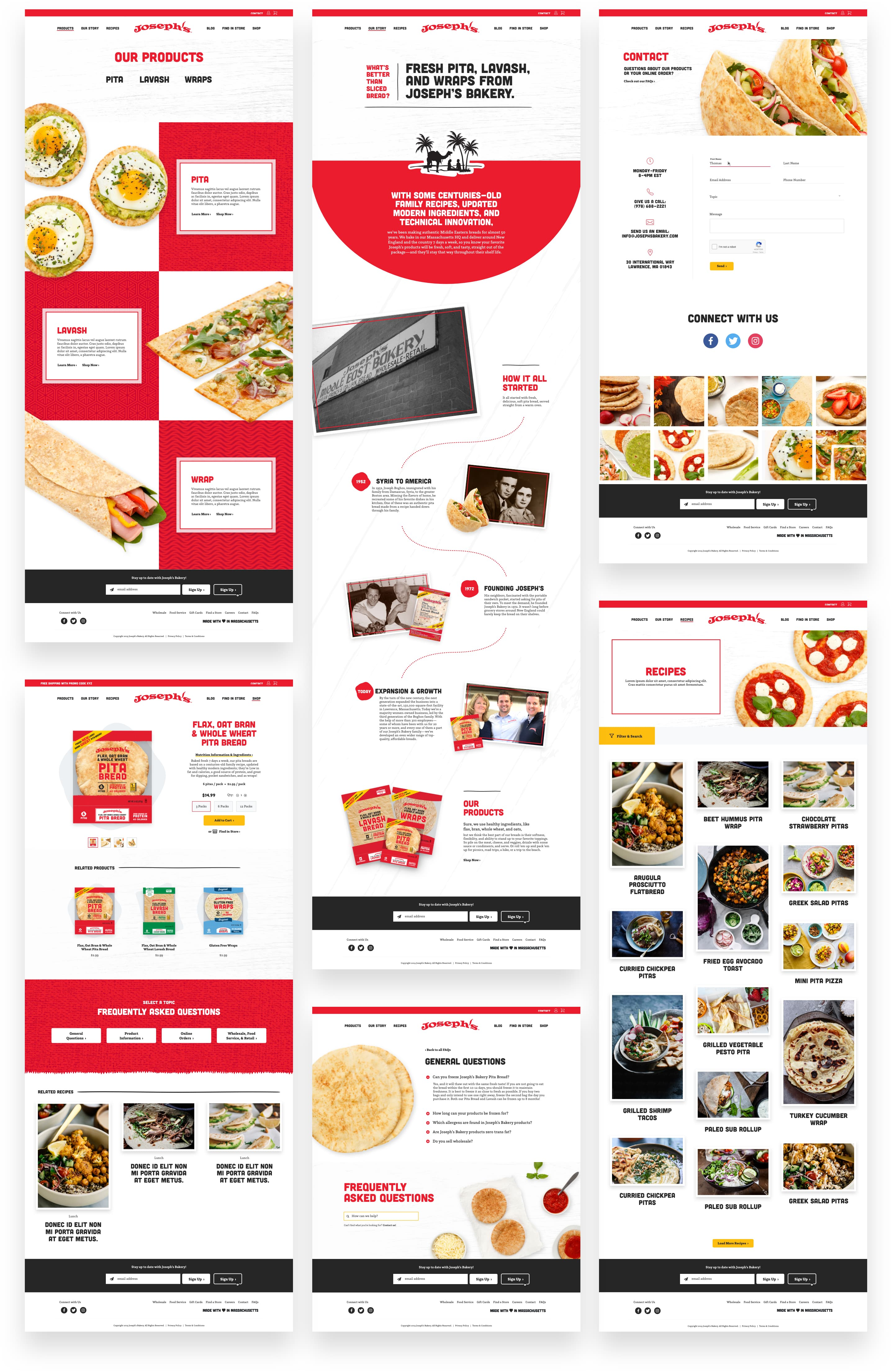 King Design Josephs Bakery Flatbread Lavash Pita Website Design Examples