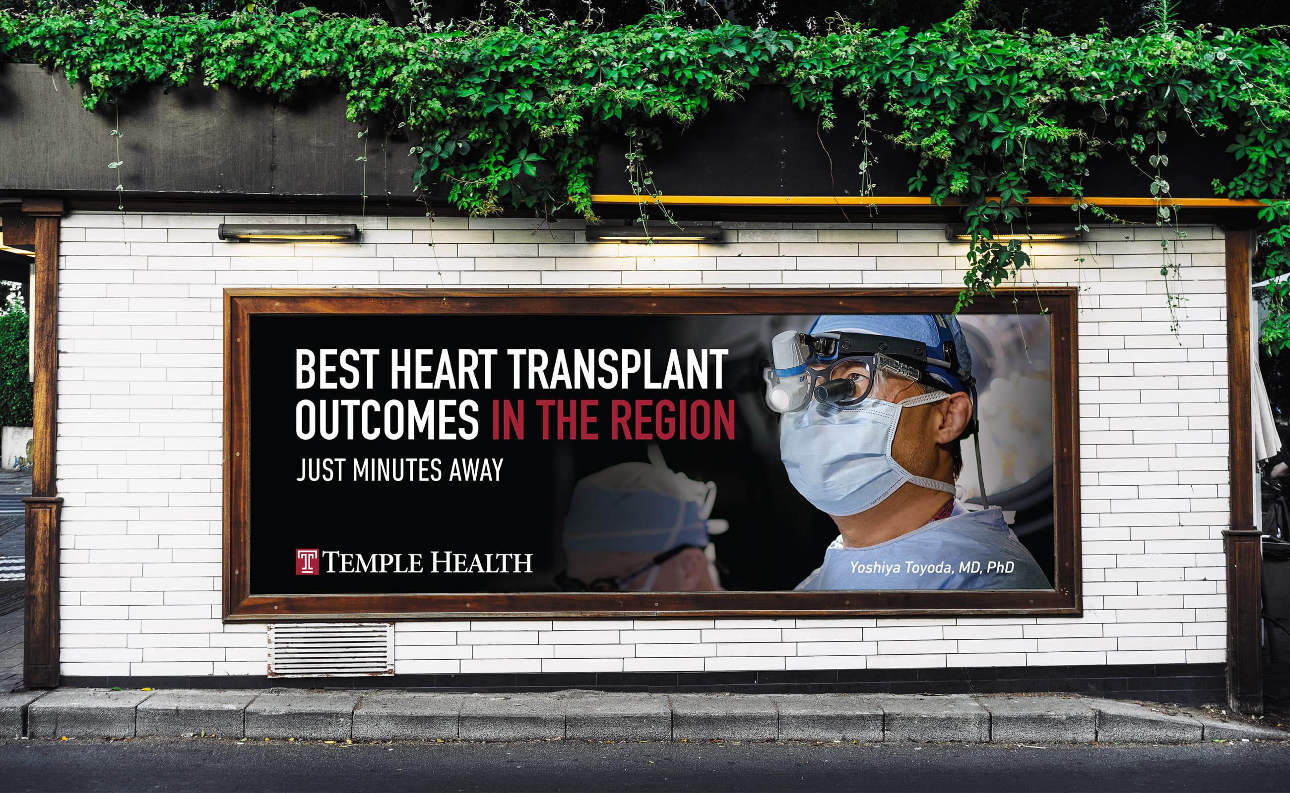 King Design Temple Health Opinion Leader Campaign Billboard Yoshiya Toyoda MD PhD