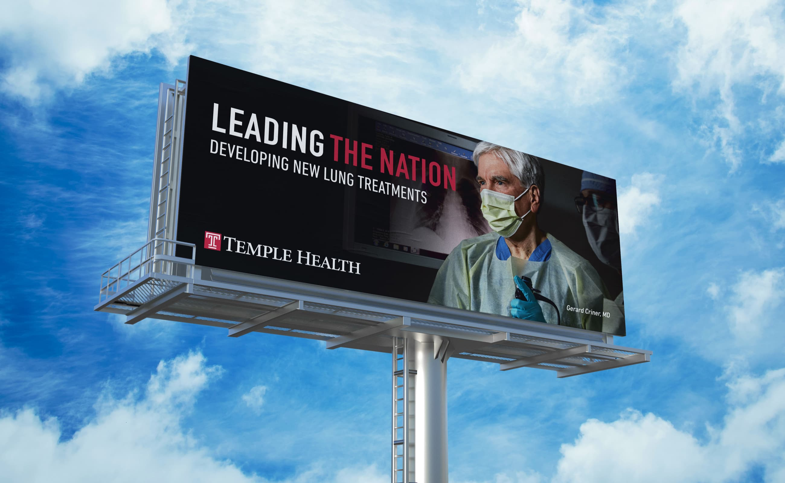 King Design Temple Health Opinion Leaders Campaign Gerard Criner MD